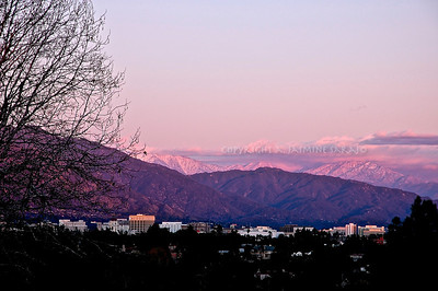 Purple mountains in winter  Limited edition, please contact me for prints